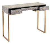 Lecce Snake Skin Console Table