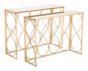Twist Set of 2 Console Tables