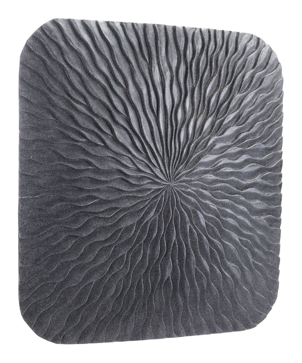 Square Wave Large Plaque Dark Gray
