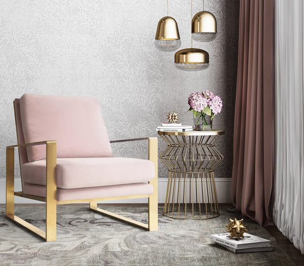 Mott Blush Velvet Chair