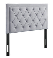 Nacht Twin Headboard in Grey Velvet