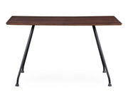 Dorian Table from the Dorian Collection  made from Ash Veneer, MDF, Steel in Dark Brown, Black featuring Handmade by skilled furniture craftsmen and Deep coffee color finish