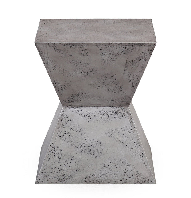 Everly Concrete Square Stool from the Everly Collection  made from MDF in Concrete featuring Completely handmade and Each piece is hand finished giving it a unique look
