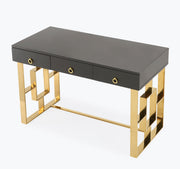 Audrey Grey Lacquer Desk