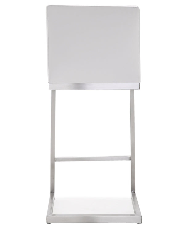 Parma White Steel Counter Stool  (Set of 2)
