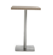 Delancey Bar Table from the TOV MOD Collection  made from Stainless Steel, Melamine in Silver, Beige featuring  and