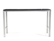 Ludlow Bar Table from the TOV MOD Collection  made from Stainless Steel, MDF, Veneer in Silver, Black featuring  and