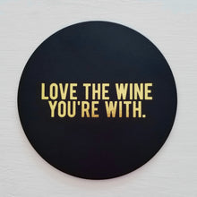 Love The Wine Leather Coaster