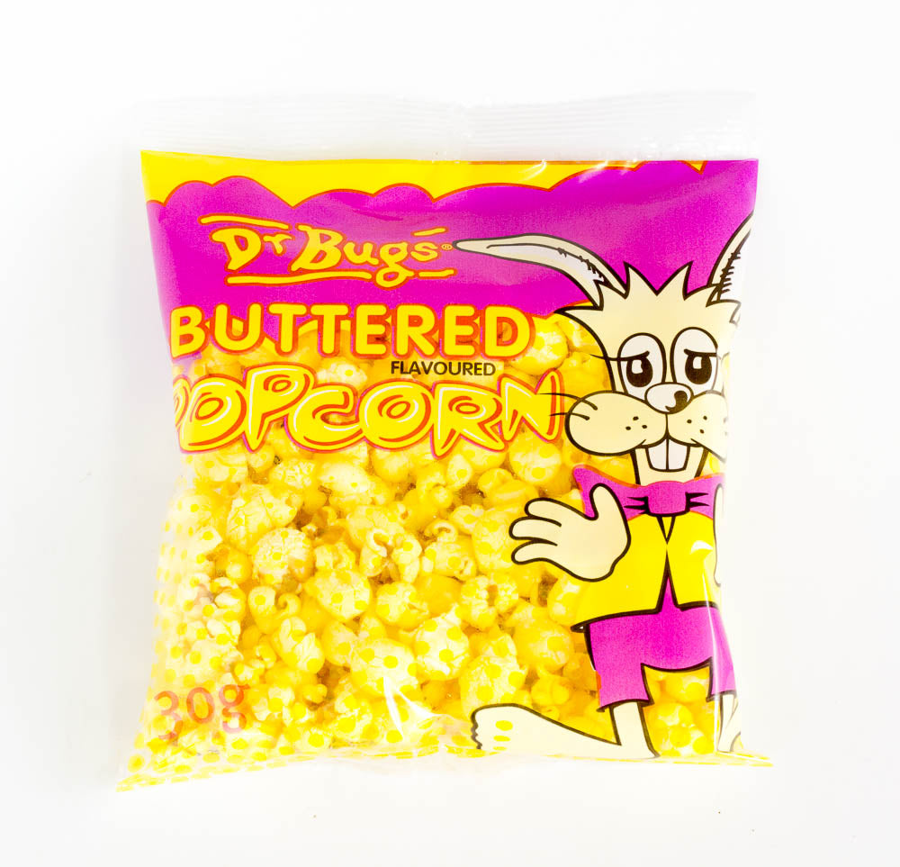 Dr Bugs Buttered Popcorn (30g) Carton of 40