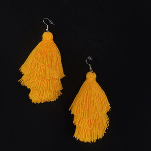 Leigh-Ann Layered Tassel Earring | Mellow Yellow