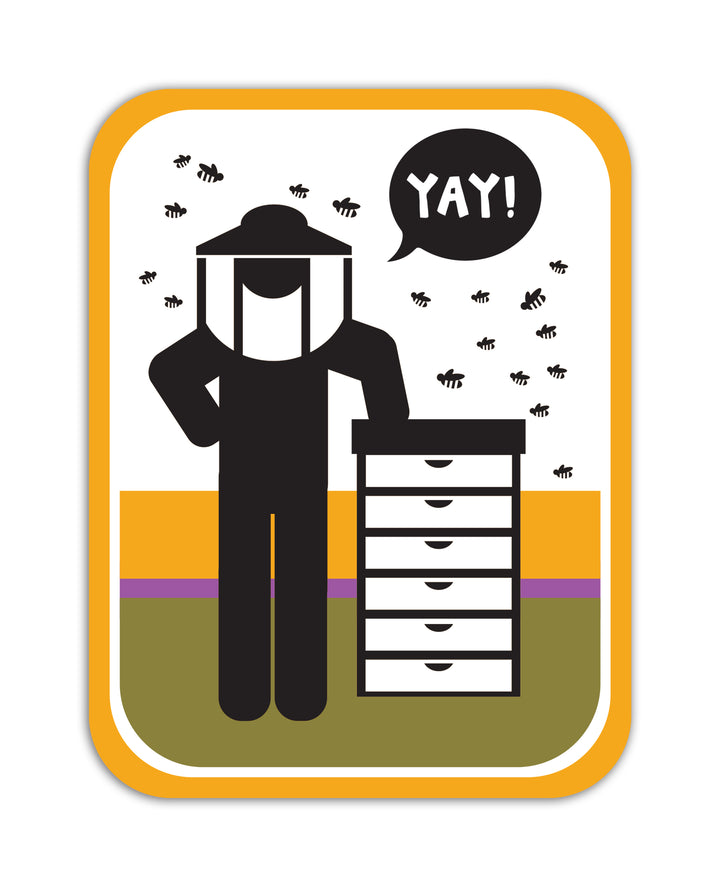 YAY! Picto Beekeeping! Sticker