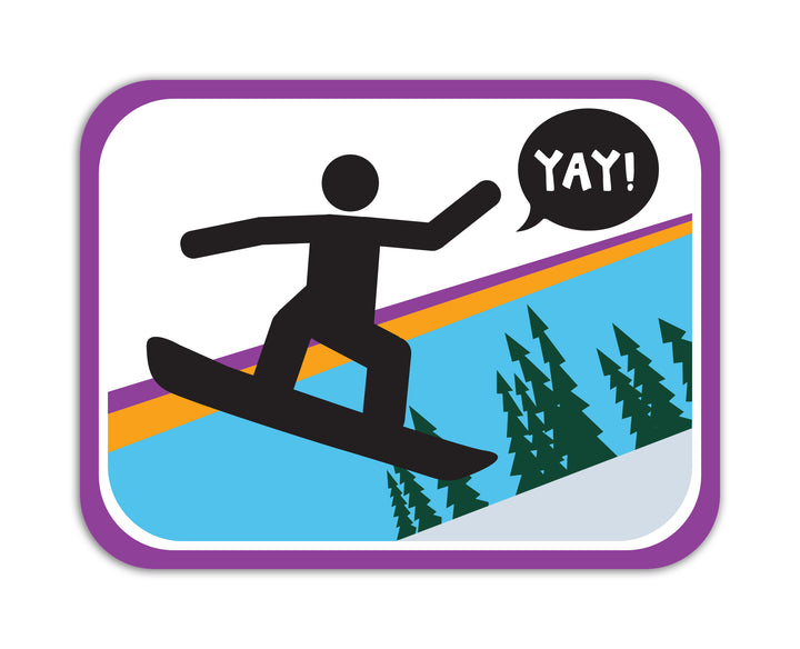 YAY! Picto Boarding! Sticker