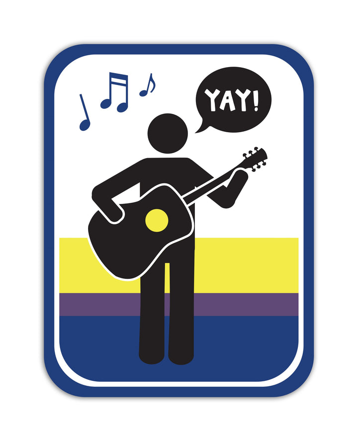 YAY! Picto Acoustic Guitar! Sticker