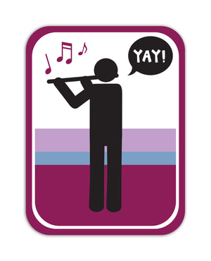 YAY! Picto Flute! Sticker