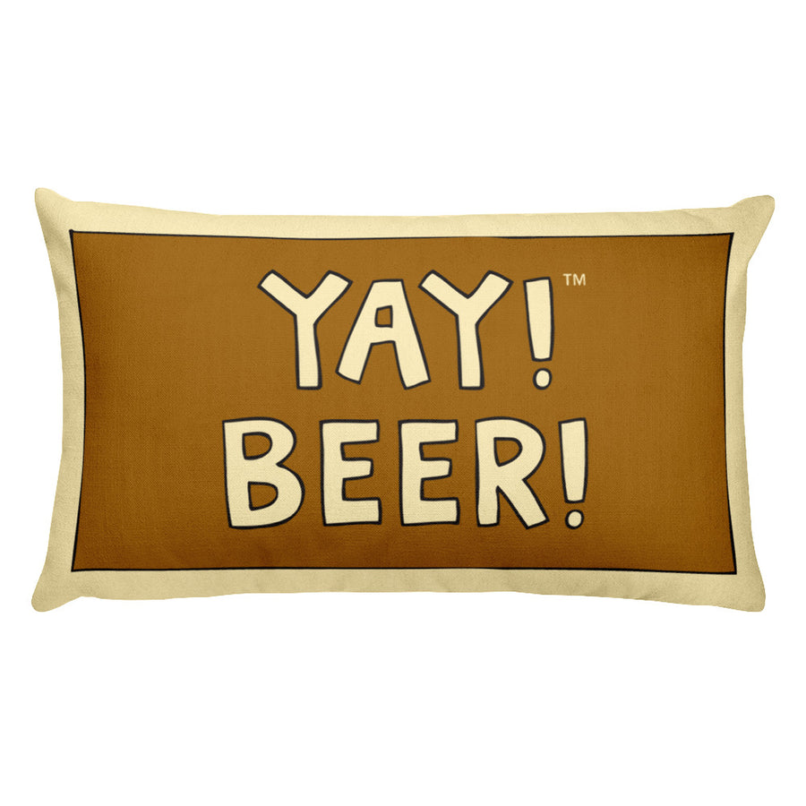 YAY! BEER! Rectangular Pillow