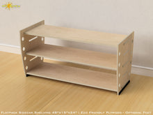Load image into Gallery viewer, Flat Pack Retro Plywood Shelving Kit  with Feet