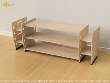 Load image into Gallery viewer, Flat Pack Retro Sidecar Shelving Kit - Optional Feet