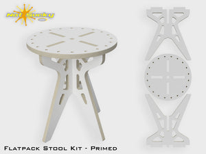 Flat Pack Stool Kit Primed - 16 Inches