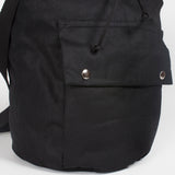 Baker black waterproof duffel backpack
