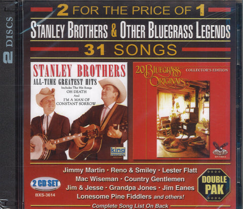 Stanley Brothers & Various Artists Stanley Brothers & Other Bluegrass Legends: 2 CD Set