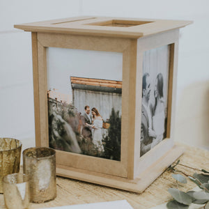 Raw Natural Wedding Card Holder by The Perfect Card Box