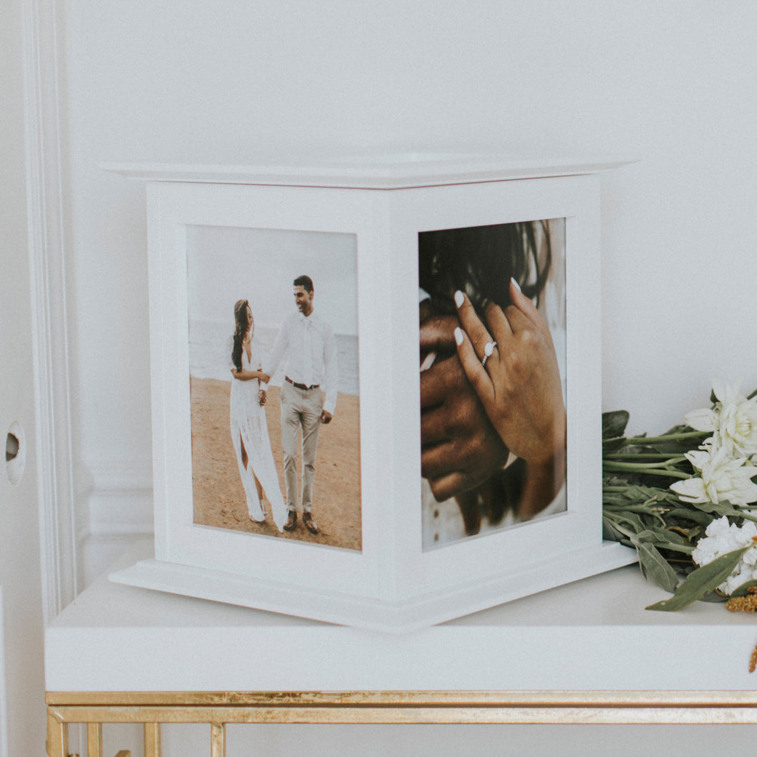 White Wedding Card Box by The Perfect Card Box