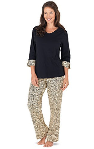 PajamaGram Women's Leopard Print Pajamas