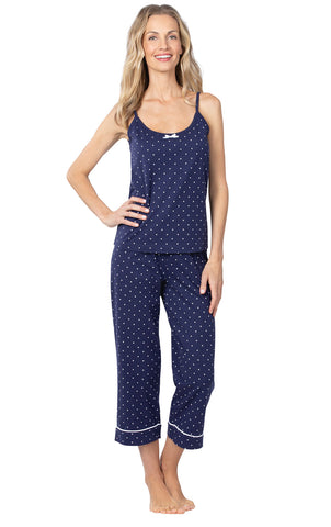 PajamaGram Womens PJs Cotton Capris - Womens Pajamas Set