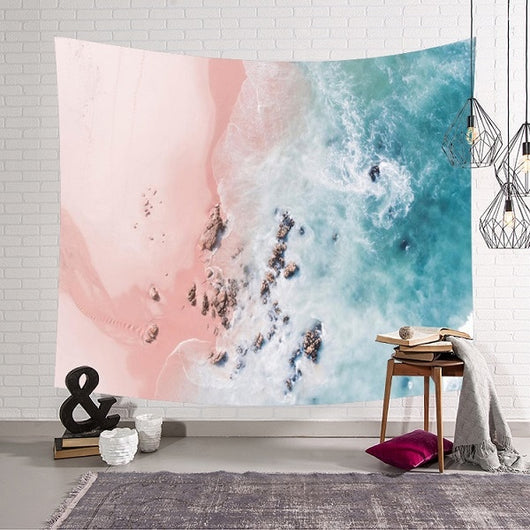 Pink Beach Wave Tapestry - Tapestry Shopping - Tapestries, Hippies and Wall Hangings