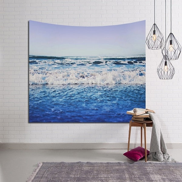 Blue Water Beach Tapestry - Tapestry Shopping - Tapestries, Hippies and Wall Hangings