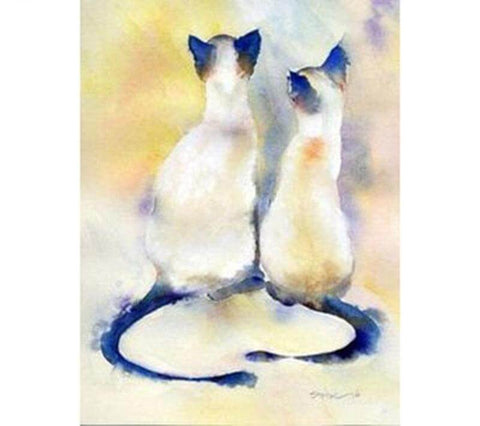 Image of Couple Cats - DIY Diamond Painting