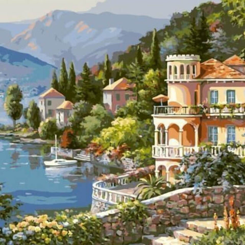 Image of Lake Town - DIY Painting By Numbers