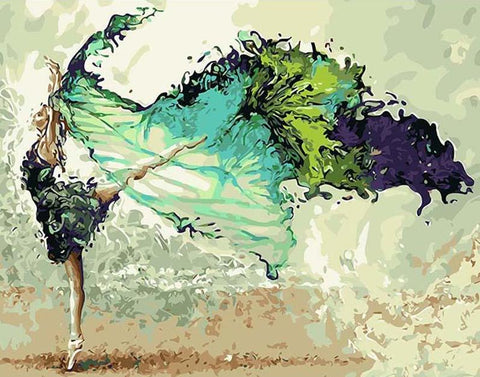 Image of Dancing Girl - DIY Painting By Numbers