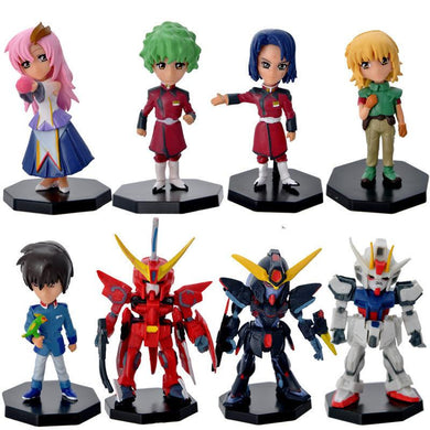 Gundam Seed Mini Japanese Anime Action Figures 8 Pieces