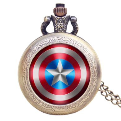 Captain America Full Metal Alchemist Family Crest Pocket Watch