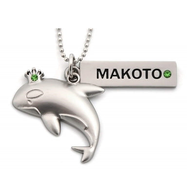 Iwatobi Swim Club Makoto Whale Crown Necklace Pendant