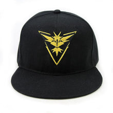 Load image into Gallery viewer, Pokemon Go Team Valor Mystic Instinct Snapback Hat