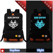 Load image into Gallery viewer, God Eater Glow In The Dark Anime Backpack