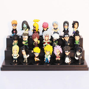 21 Piece Set Japanese Anime Naruto PVC Action Figure Toys
