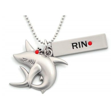 Iwatobi Swim Club Rin Shark Crown Necklace Pendant