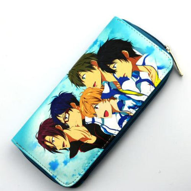 Iwatobi Swim Club Wallet Purse Colorful