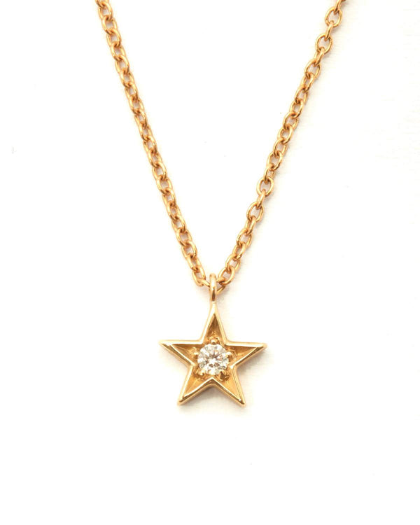 Star Diamond Necklace - 9ct Gold