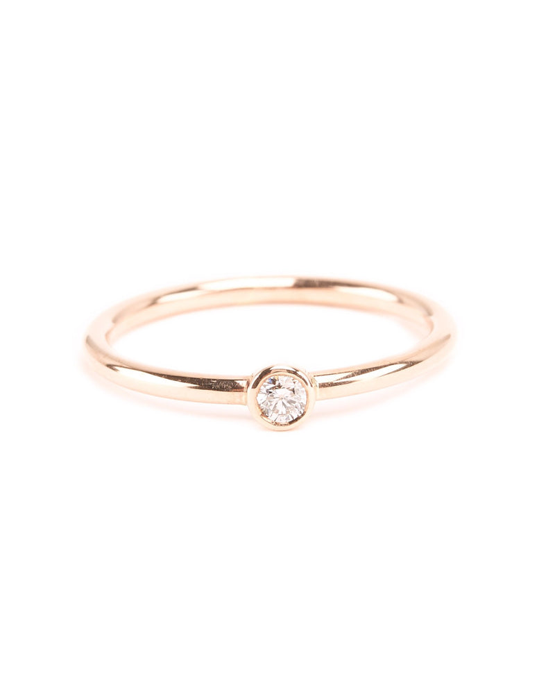 Neo Diamond Ring (Large) - 9ct Rose Gold