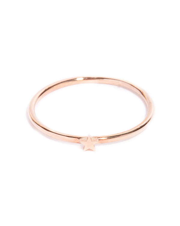 Tiny Star Ring - 9ct Rose Gold