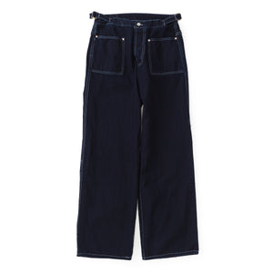 Type 126 Side Cinch Oxford Trousers (Indigo/Indigo Cotton Taunton)