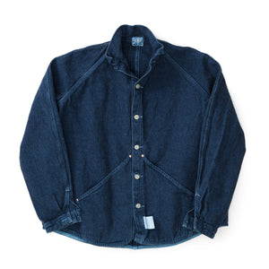 Type 431 Raglan Wallaby Jacket (Indigo/Ecru Cotton Taunton) (Prussian Blue Dye)