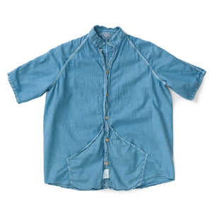Type 433 Short Sleeve Raglan Wallaby Shirt (Mackintosh) (Prussian Blue Dye)