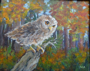 Owl See You in September by Karen Wolf (Framed Painting)