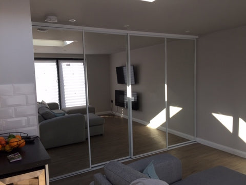 Sliding Wardrobe Doors in a Garden House