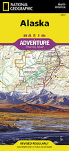 Adventure Travel Map Reisekart - National Geographic - Alaska,USA,National Geographic,Kart,Adventure Maps